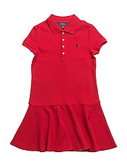 COTTON MESH-SS POLO DRS-DR-KNT - RL2000 RED