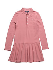 COTTON MESH-LS POLO DRS-DR-KNT - RUGBY PINK