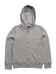 French Terry Full-Zip Hoodie - ANDOVER HEATHER