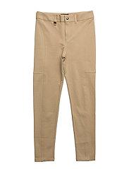 Cotton-Blend-Ponte Legging - FALL KHAKI
