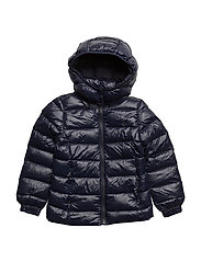 Hooded Down Jacket - COLLECTION NAVY