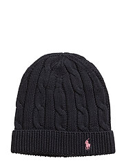 Slouchy Cable-Knit Cotton Hat - HUNTER NAVY