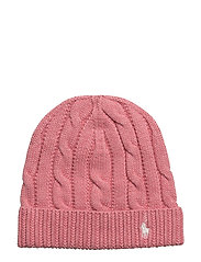 Slouchy Cable-Knit Cotton Hat - RUGBY PINK