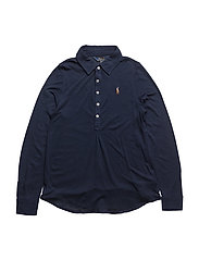 RAYON-LS KNIT SHRT-TP-KNT - FRENCH NAVY