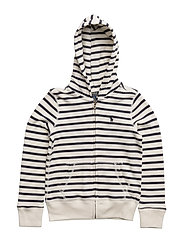 ATLANTIC TERRY-STRP HOODIE-TP-KNT - CLUBHOUSE CREAM/H