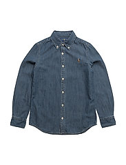 Cotton Chambray Shirt - INDIGO
