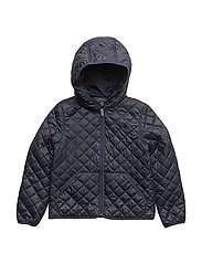 MATTE POLY-QUILTED JKT-OW-JKT - HUNTER NAVY