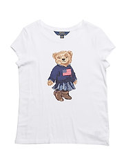 COTTON JERSEY-SS BEAR TEE-TP-KNT - WHITE