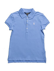 Stretch-Cotton Mesh Polo Shirt - HARBOR ISLAND BLU