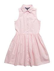 Sleeveless Poplin Shirtdress - HINT OF PINK