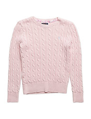 Cable-Knit Cotton Sweater - HINT OF PINK
