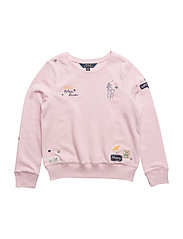 Embroidered Terry Sweatshirt - HINT OF PINK