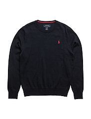 Long Sleeve Crewneck Sweater - HUNTER NAVY