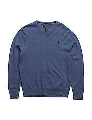 Long Sleeve Crewneck Sweater - BEDFORD HEATHER