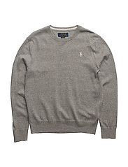 Long Sleeve Crewneck Sweater - ANDOVER HEATHER