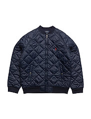Quilted Baseball Jacket - FRENCH NAVY