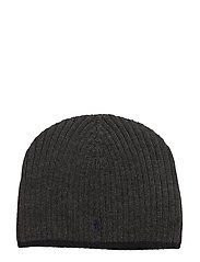 Ribbed Merino Wool Beanie - DARK CHARCOAL HEATHER