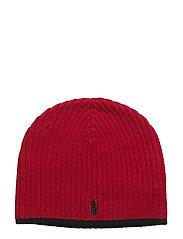 Ribbed Merino Wool Beanie - RALPH RED