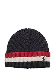 Striped-Brim Ribbed Cotton Hat - HUNTER NAVY MULTI
