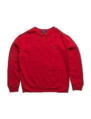 Cotton-Blend-Fleece Sweatshirt - RL 2000 RED