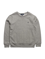 Cotton-Blend-Fleece Sweatshirt - DARK SPORT HEATHER