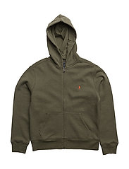 Cotton-Blend-Fleece Hoodie - OLIVE HEATHER
