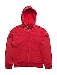 Cotton-Blend-Fleece Hoodie - SIGNAL RED