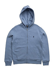 Cotton-Blend-Fleece Hoodie - CAMPUS BLUE HEATHER