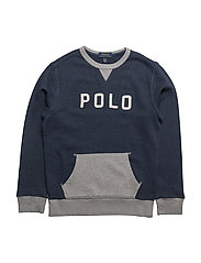 Cotton French Terry Sweatshirt - MEDIEVAL BLUE HEATHER