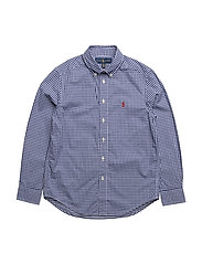 Gingham Cotton Poplin Shirt - ROYAL MULTI