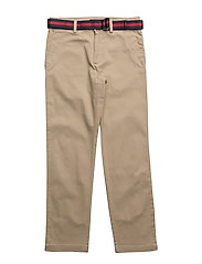 Belted Stretch Cotton Chino - CLASSIC KHAKI