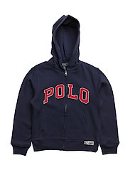 Fleece Zip-Up Hoodie - FRENCH NAVY