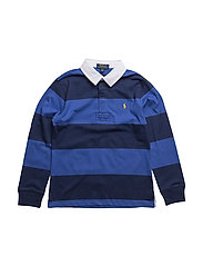 Cotton Jersey Rugby Shirt - BARCLAY BLUE MULTI