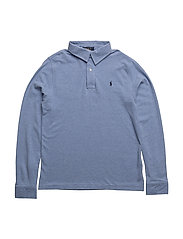 FEATHERWEIGHT MESH-LS CS-TP-KNT - CAMPUS BLUE HEATHER