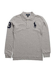 Custom Fit Cotton Mesh Polo - ANDOVER HEATHER
