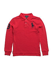Custom Fit Cotton Mesh Polo - SIGNAL RED