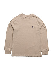 Cotton Jersey Crewneck Tee - SAND HEATHER