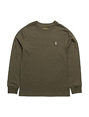 Cotton Jersey Crewneck Tee - OLIVE HEATHER