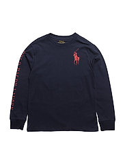 Graphic Long Sleeve T-Shirt - FRENCH NAVY