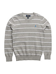 PIMA COTTON-STRIPE CN PO-TP-SWT - GREY HEATHER MULT