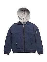 COTTON NYLON-BOMBER JKT-OW-JKT - NEWPORT NAVY
