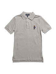 BASIC MESH-BEAR POLO-TP-KNT - ANDOVER HEATHER