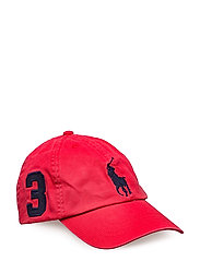 Big Pony Chino Baseball Cap - DEEP ORANGEY RED