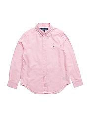Linen-Cotton Sport Shirt - CARMEL PINK