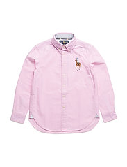Big Pony Cotton Oxford Shirt - PINK