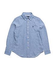 Linen-Cotton Chambray Shirt - LIGHT BLUE