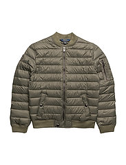 MATTE NYLON-MA-1 BOMBER-OW-JKT - EXPEDITION OLIVE