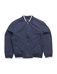 Cotton-Blend Track Jacket - NEWPORT NAVY