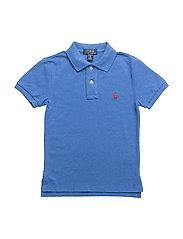 Custom Fit Cotton Mesh Polo - DOCKSIDE BLUE HEA