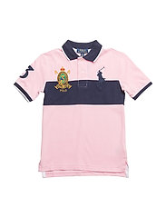 Cotton Mesh Polo Shirt - CARMEL PINK